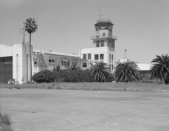 LANDSCAPING ON NORTHEAST ELEVATION, CONTROL TOWER