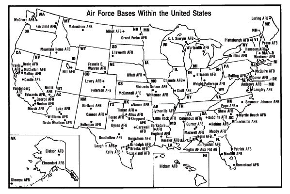 Air Force Bases - Us Air Force Bases In Japan Map