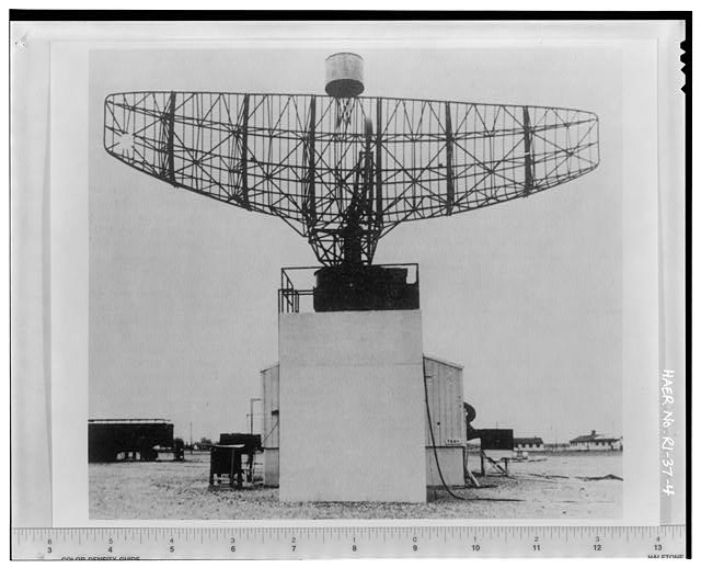 Photocopy of photograph showing battery acquisition radar from 'Procedures and Drills for the NIKE Hercules Missile Battery,' Department of the Army Field Manual, FM-44-82 from Institute for Military History, Carlisle Barracks, Carlisle, PA, 1959