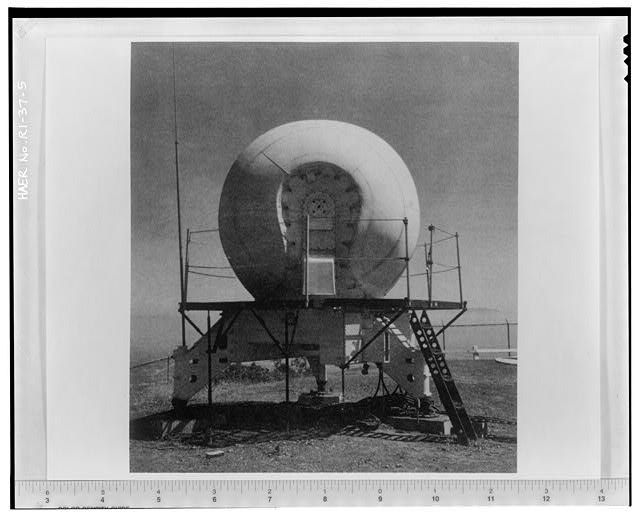 Photocopy of photograph showing target tracking radar from 'Procedures and Drills for the NIKE Hercules Missile Battery,' Department of the Army Field Manual, FM-44-82 from Institute for Military History, Carlisle Barracks, Carlisle, PA, 1959