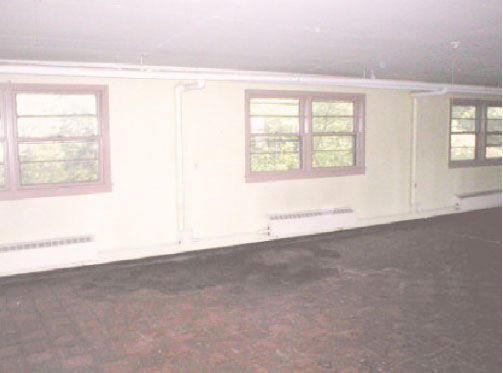Mess hall in building L-1.  View to SouthWest.