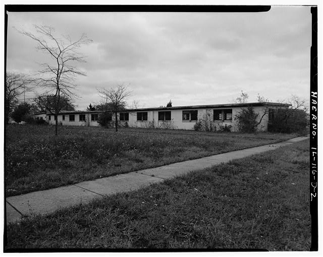 BARRACKS, LONGER BUILDING, REAR SIDE, LOOKING NORTHEAST