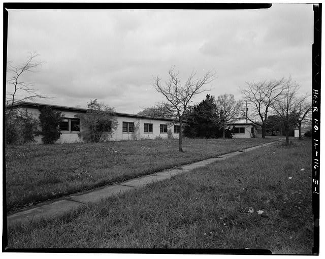 BARRACKS, SHORTER BUILDING, FRONT, LOOKING NORTHWEST