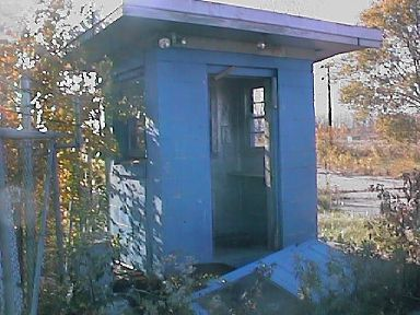 Guard Hut. Door is on ground in front.