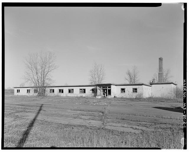 VIEW NORTHEAST, E.M. Barracks