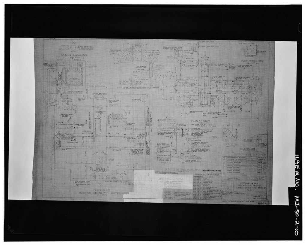 Site D-57 & 58-L, Underground Missile Storage Structure, Type B, Plans, U.S. Army Corps of Engineers, 13 December 1953