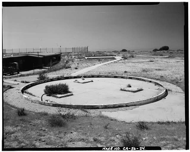 VIEW SHOWING CIRCLE CONCRETE PAD AT RADAR SITE, LOOKING SOUTH