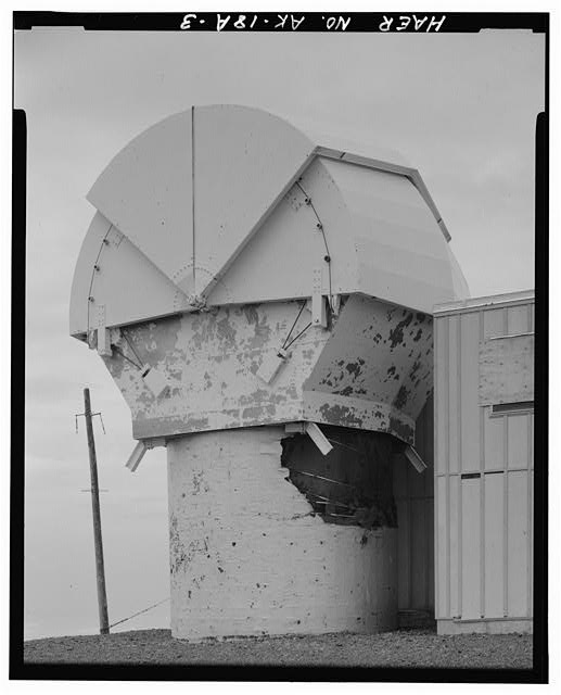 Nike Missile Site Summit, Alaska STEEL CLAM SHELL PROTECTED RADAR ATTACHED.
