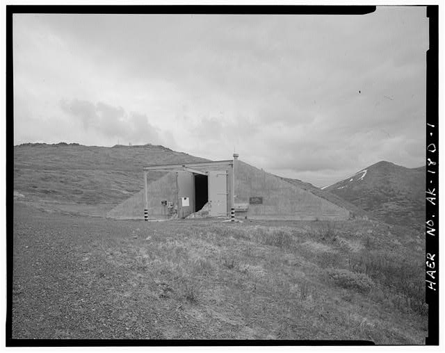 Nike Missile Site Summit, Alaska HIGH EXPLOSIVES MAGAZINE LOCATED BETWEEN THE BATTERY CONTROL AND LAUNCH AREAS.