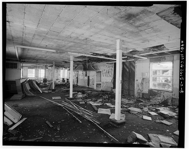 Mill Valley Early Warning Radar Station  INTERIOR OBLIQUE VIEW OF THE DINING ROOM, BUILDING 220, LOOKING SOUTHEAST.