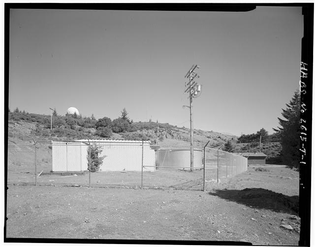 Mill Valley Early Warning Radar Station EXTERIOR OF THE STORAGE SHED LOCATED NEAR THE POOL, BUILDING 305 AND THE TANK, LOOKING EAST.